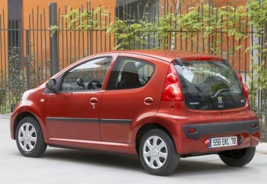 PEUGEOT 107 hatchback czerwony jasny tylny lewy