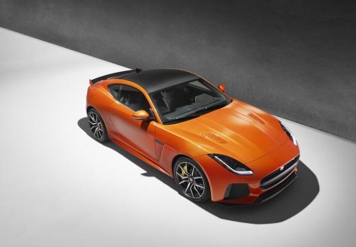 JAGUAR F-Type I coupe pomarańczowy górny przedni