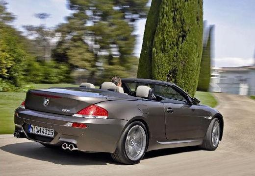 BMW Seria 6 Cabriolet E64 I kabriolet szary ciemny tylny prawy