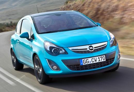 OPEL Corsa D II hatchback niebieski jasny przedni prawy