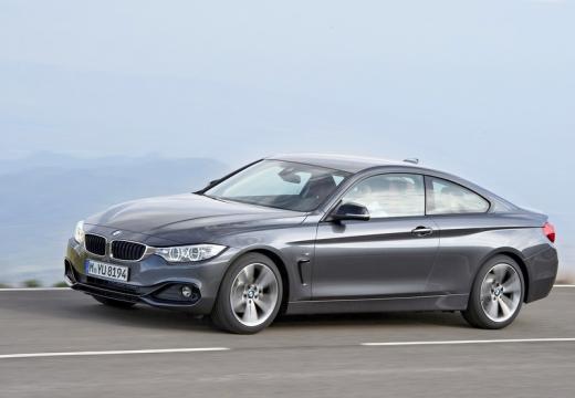 BMW Seria 4 F32 coupe silver grey przedni lewy