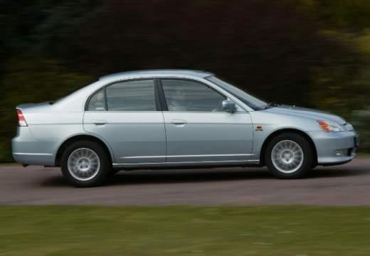 HONDA Civic IV sedan silver grey boczny prawy