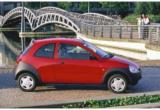 FORD Ka hatchback czerwony jasny boczny prawy