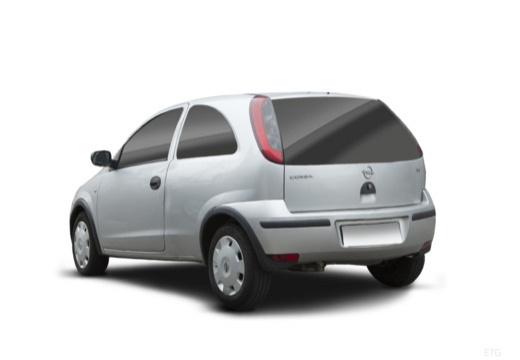 OPEL Corsa C II hatchback silver grey tylny lewy
