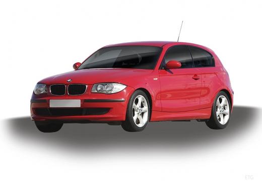 BMW Seria 1 E81 hatchback czerwony jasny