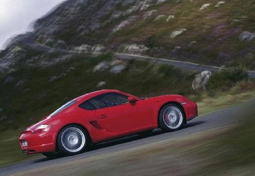 PORSCHE Cayman coupe czerwony jasny boczny prawy