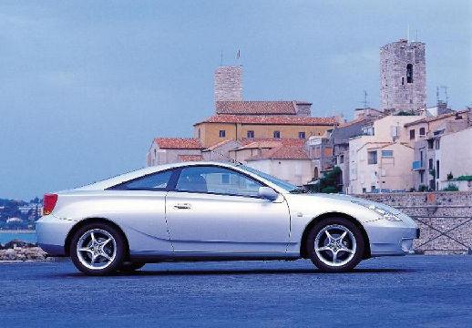 Toyota Celica coupe silver grey boczny prawy
