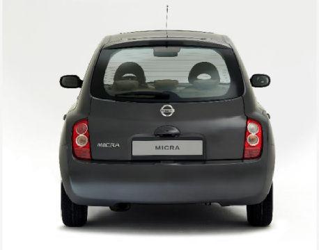 NISSAN Micra V hatchback szary ciemny tylny
