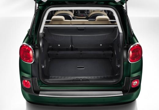 FIAT 500 L Living kombi zielony przestrzeń załadunkowa