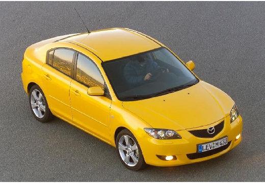 MAZDA 3 I sedan żółty przedni prawy