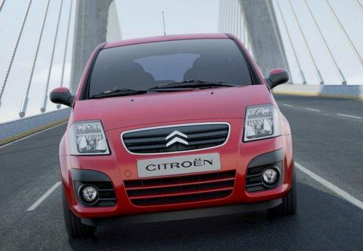 CITROEN C2 hatchback czerwony jasny przedni