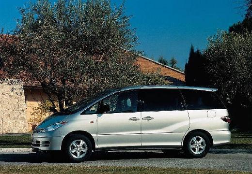 Toyota Previa van silver grey przedni lewy