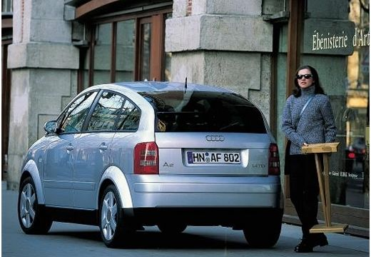 AUDI A2 hatchback silver grey tylny lewy