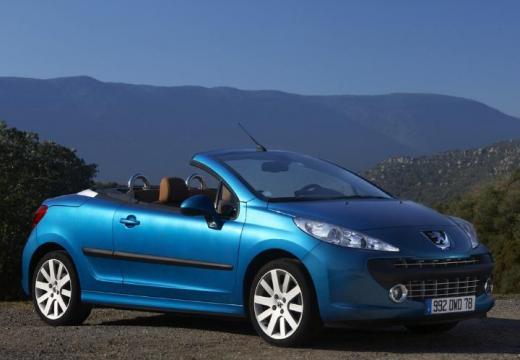 PEUGEOT 207 kabriolet niebieski jasny przedni prawy