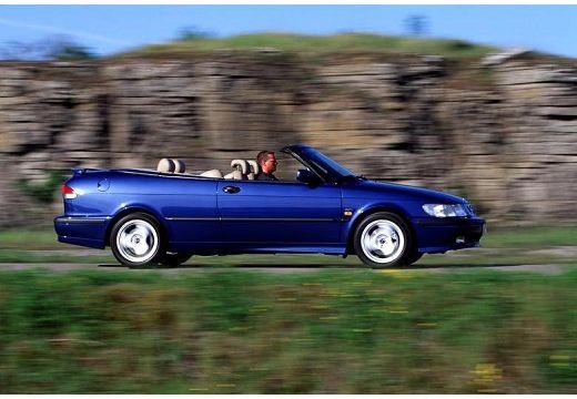 SAAB 9-3 Cabriolet I kabriolet niebieski jasny boczny prawy