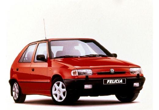 SKODA Felicia hatchback czerwony jasny przedni prawy