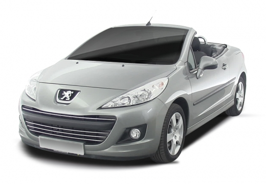 PEUGEOT 207 CC II kabriolet silver grey