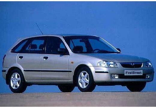 MAZDA 323 hatchback silver grey przedni prawy