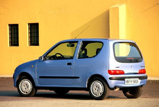 FIAT Seicento I hatchback niebieski jasny tylny lewy