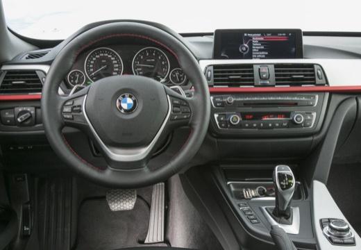 BMW Seria 3 Gran Turismo hatchback szary ciemny tablica rozdzielcza