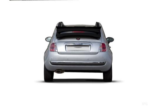 FIAT 500 C I kabriolet silver grey tylny