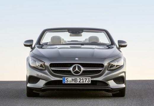 MERCEDES-BENZ Klasa S Coupe kabriolet silver grey przedni