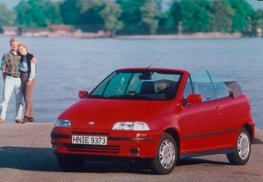 FIAT Punto kabriolet czerwony jasny przedni lewy