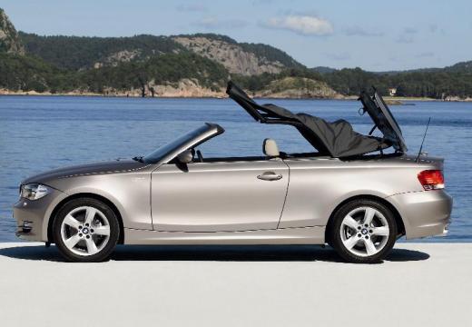 BMW Seria 1 kabriolet beige boczny lewy