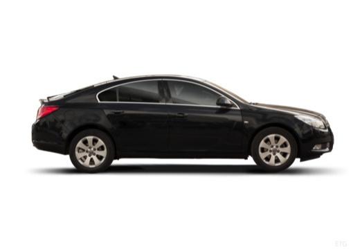 OPEL Insignia I hatchback czarny boczny prawy
