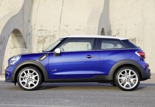 MINI [BMW] Paceman hatchback niebieski jasny boczny lewy