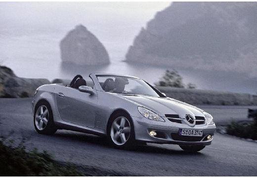 MERCEDES-BENZ Klasa SLK SLK R 171 I roadster silver grey przedni prawy