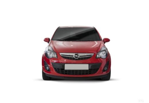 OPEL Corsa D II hatchback czerwony jasny przedni