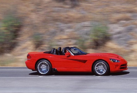 DODGE Viper roadster czerwony jasny boczny prawy