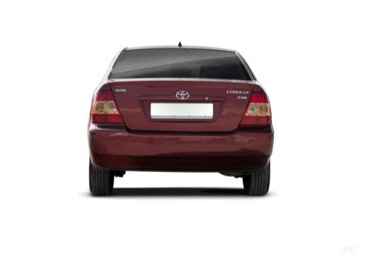 Toyota Corolla VII sedan czerwony jasny tylny