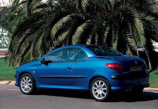 PEUGEOT 206 kabriolet niebieski jasny tylny lewy