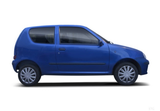 FIAT 600 hatchback czarny boczny prawy