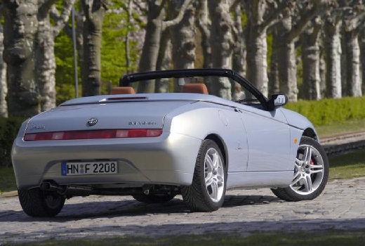 ALFA ROMEO Spider kabriolet silver grey tylny prawy