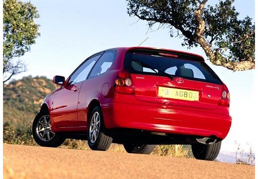 Toyota Corolla V hatchback czerwony jasny tylny lewy
