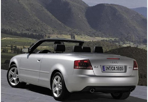 AUDI A4 kabriolet silver grey tylny lewy