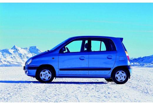 HYUNDAI Atos hatchback niebieski jasny boczny lewy