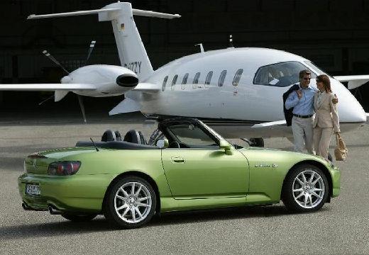 HONDA S 2000 I roadster zielony tylny prawy