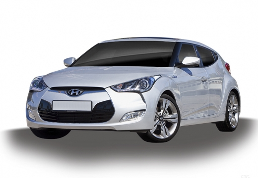 HYUNDAI Veloster I coupe silver grey