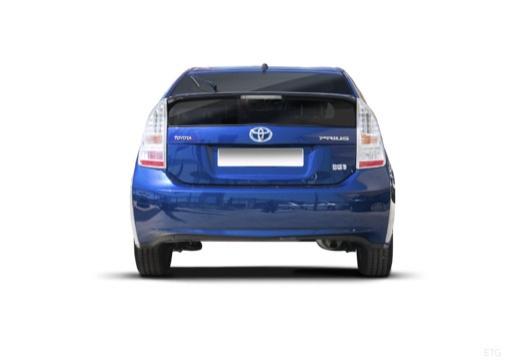 Toyota Prius II hatchback niebieski jasny tylny
