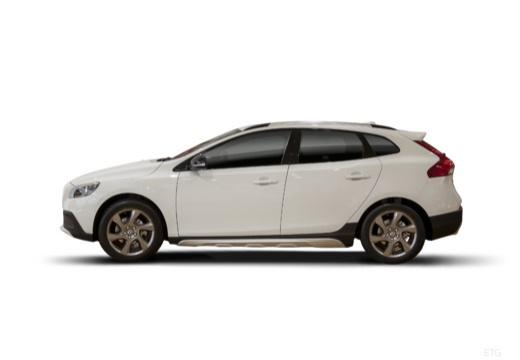 VOLVO V40 Cross Country I hatchback biały boczny lewy