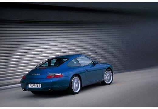 PORSCHE 911 coupe niebieski jasny tylny prawy