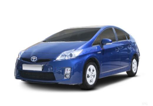 Toyota Prius II hatchback niebieski jasny przedni lewy
