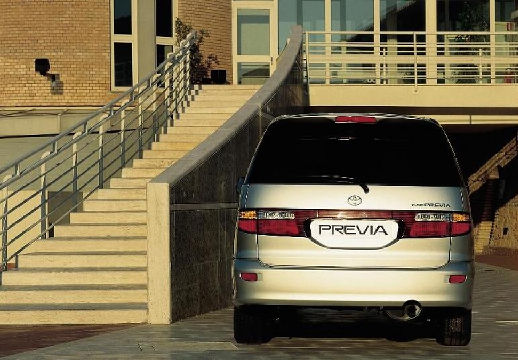 Toyota Previa van silver grey tylny