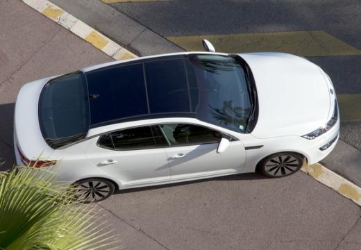 KIA Optima IV sedan biały boczny prawy