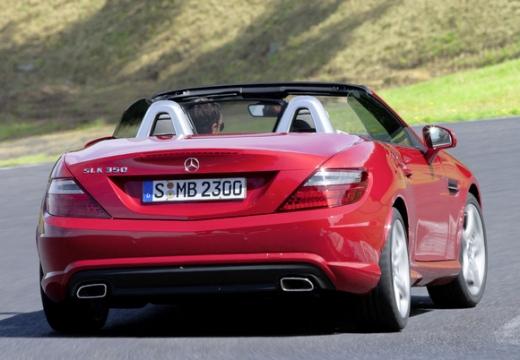 MERCEDES-BENZ Klasa SLK SLK R 172 roadster czerwony jasny tylny prawy