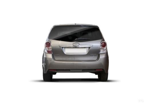 Toyota Verso, универсал, mpv темно-серый задняя панель